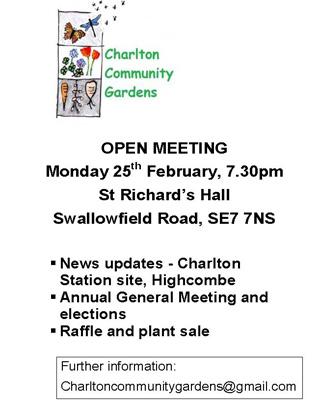 Charlton Community Gardens poster