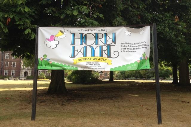 Charlton Horn Fayre banner