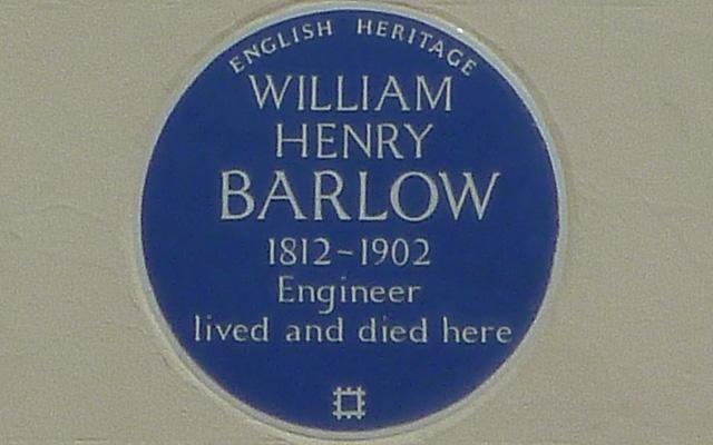 WIlliam Barlow's blue plaque
