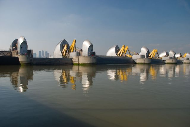 Thames Barrier Test - photo by Neil Clasper