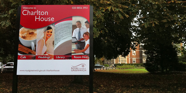 Charlton House sign