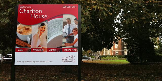 Charlton House sign