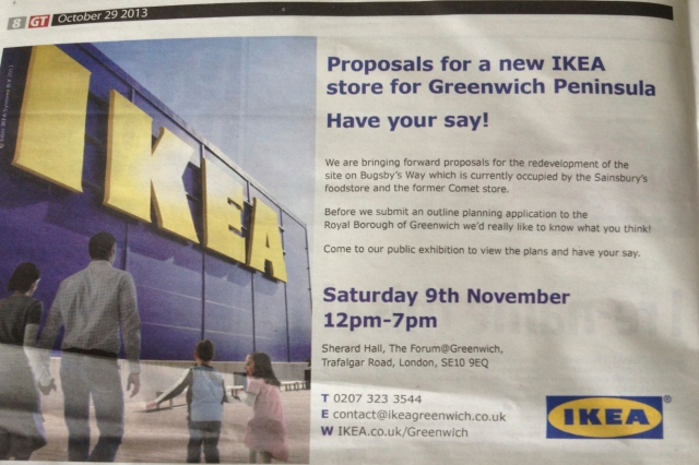 IKEA's ad in the Greenwich Time