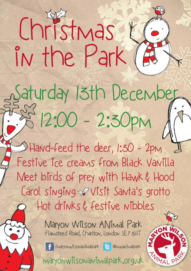 Maryon Wilson Animal Park Christmas Event 2014
