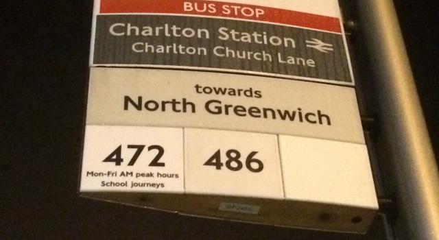 Charlton station bus stop
