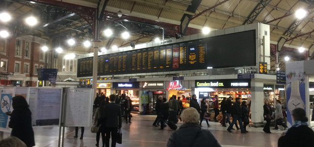 Victoria station: Don't be surprised to end up here by rail next weekend...