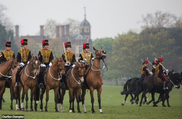 King's Troop rehearsal - pic by Rob Powell