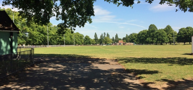 The skate park site in Charlton Park