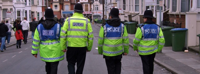 Police in Floyd Road on a matchday