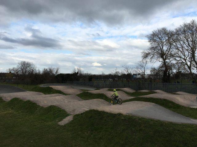 A near-deserted Hornfair Park BMX track on Sunday afternoon (photo: Clare Griffiths)