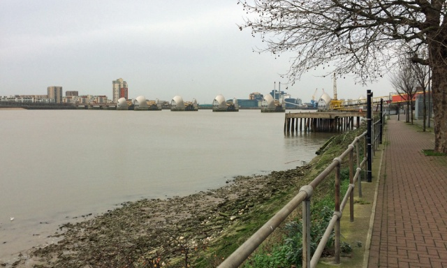 Charlton riverside at the Thames Barrier