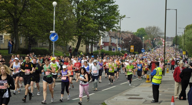 London Marathon on Charlton Road