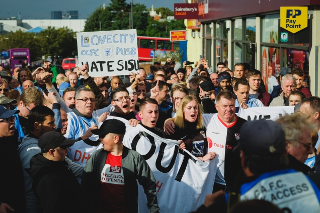 Fans United Protest - The Valley - October 2016