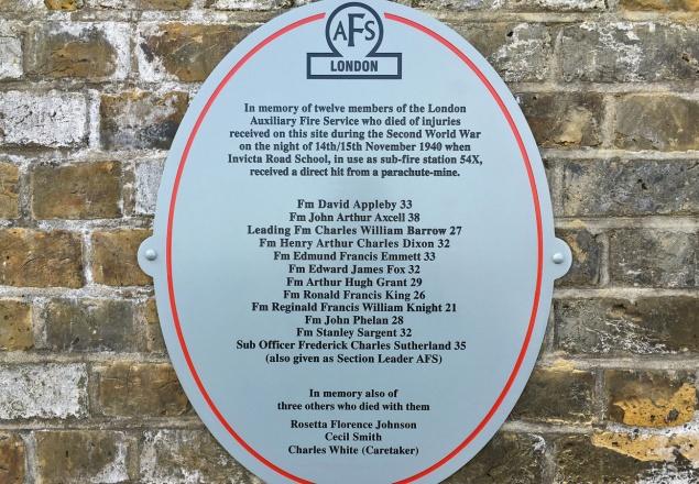 Invicta school plaque
