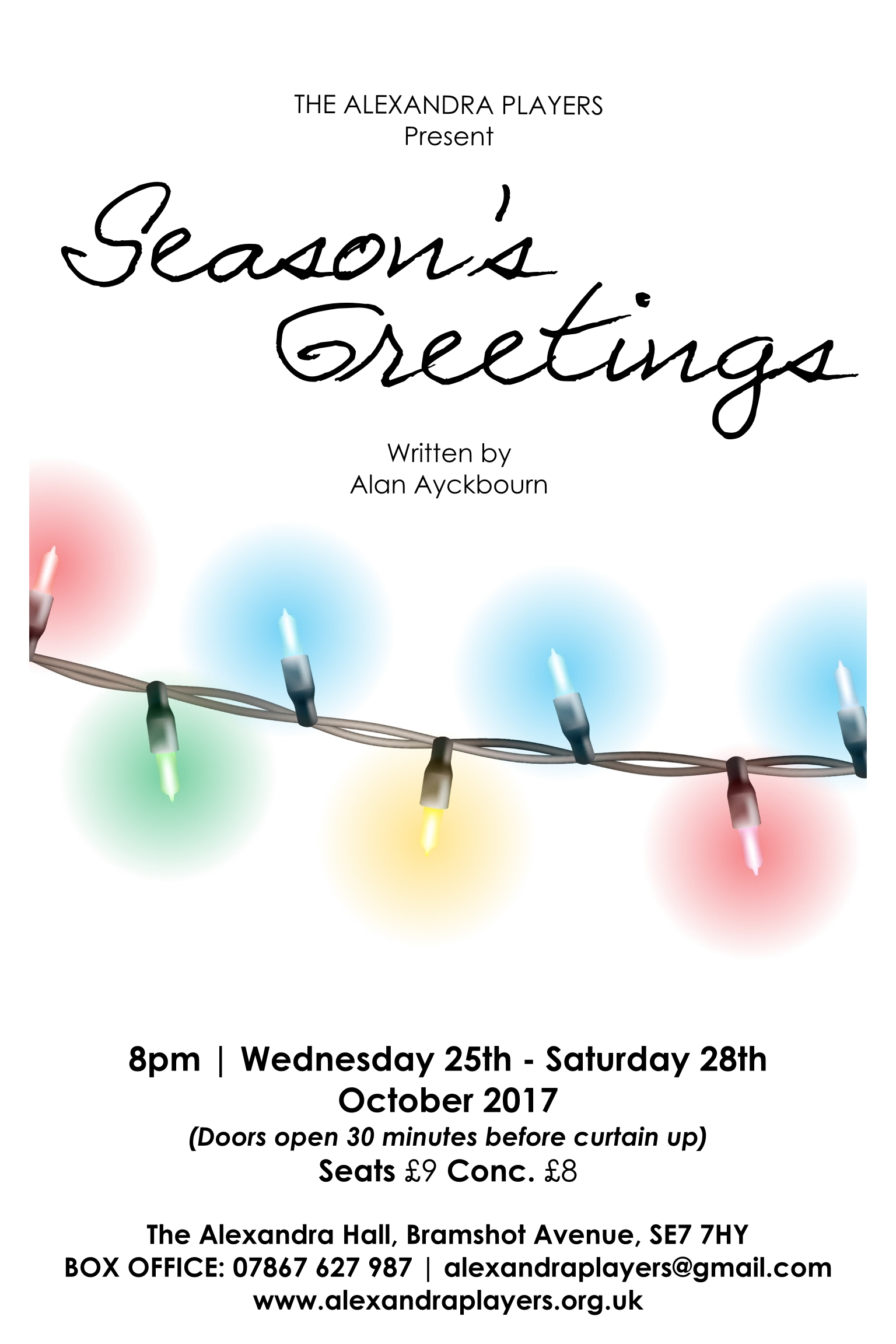 The alexandra players bring sir alan ayckbourns seasons greetings players return to the alexandra hall on bramshot avenue at the end of this month with a production of seasons greetings written by sir alan ayckbourn m4hsunfo