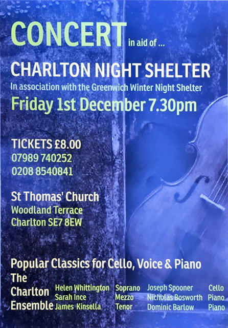 Charlton night shelter poster