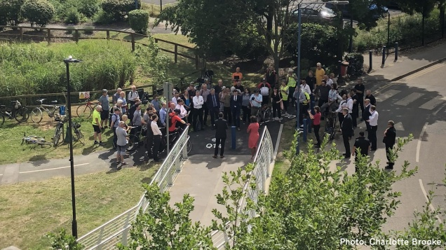 Thames Path missing link crowd