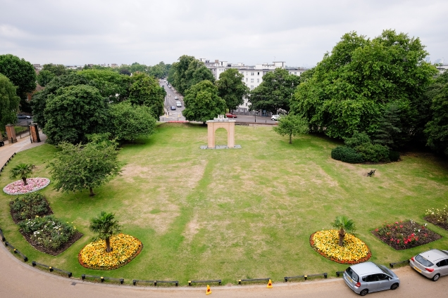 Charlton House front lawn from above
