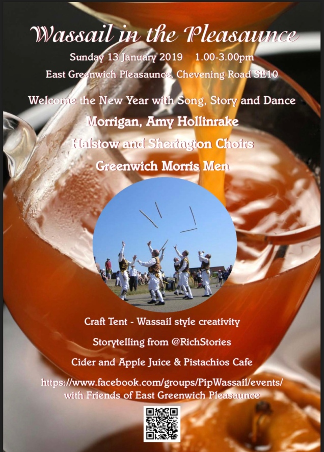East Greenwich Pleasaunce Wassailing poster